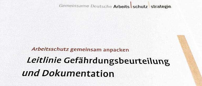 Gda Portal Leitlinie Gefährdungsbeurteilung Und Dokumentation